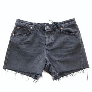 Topshop Moto Hotpant Raw Hem Shorts